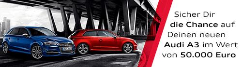 Alle Infos zu unserem Audi A3 Gewinnspiel